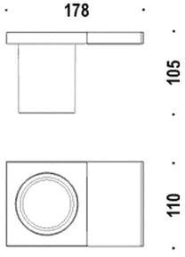 Стакан Colombo Domino B3402.ME/3452/3400 подвесной хром /стекло матовое
