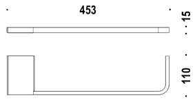 Полотенцедержатель Colombo Domino B3410/3400 одинарный длина 45,3 cм хром