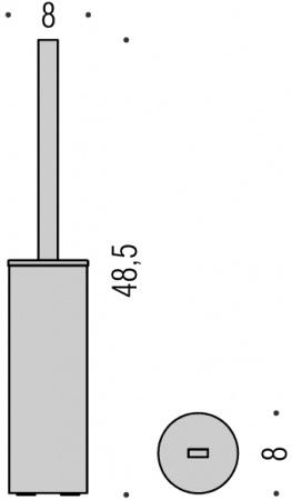 Ершик для туалета Colombo Nordic B5206.000 напольный хром