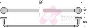 Полотенцедержатель Colombo Nordic B5211.000 одинарный длина 69 см хром