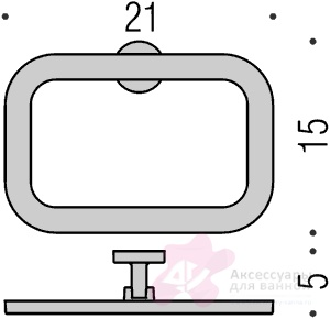 Полотенцедержатель Colombo Nordic B5231.000 кольцо хром