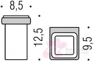 Стакан Colombo Lulu B6202.000 настенный хром / стекло матовое
