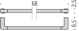 Полотенцедержатель Colombo Lulu B6211.000 одинарный длина 68 см хром
