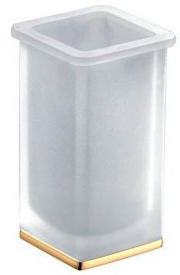 Стакан Colombo Lulu B6241.000 настольный хром / стекло матовое