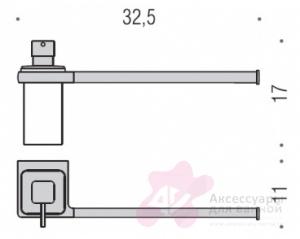 Полотенцедержатель Colombo Lulu B6274.000 с дозатором хром