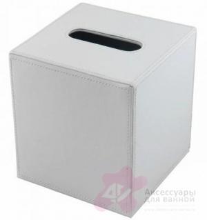Контейнер Colombo Black&White В9204 EPB для салфеток 14 х 15 см экокожа цвет белый