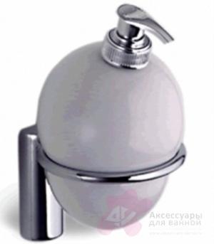 Дозатор для мыла Colombo Luna B9301.000 подвесной хром / стекло матовое