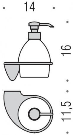 Дозатор для мыла Colombo Khala B9303.000 подвесной хром / стекло матовое
