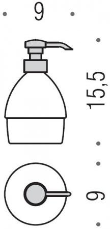 Дозатор для мыла Colombo Khala B9304.000 настольный хром / стекло матовое