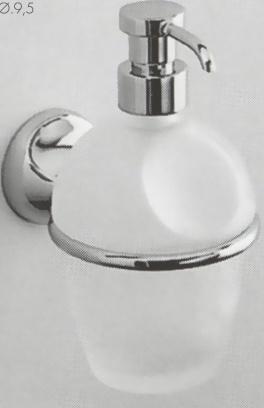 Дозатор для мыла Colombo Melo B9306.000 подвесной хром / стекло матовое