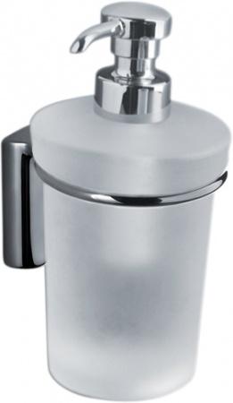 Дозатор для мыла Colombo Luna B9309.000 подвесной хром / стекло матовое