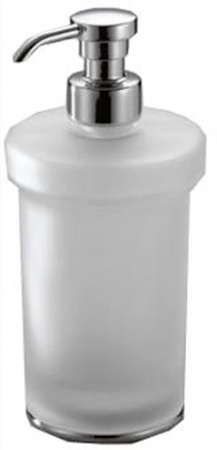 Дозатор для мыла Colombo Link B9311.000 настольный хром / стекло матовое