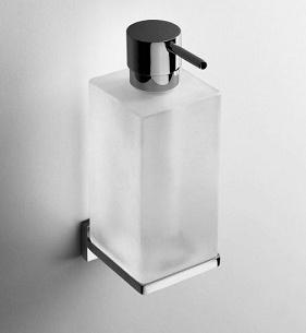 Дозатор для мыла Colombo Look B9316.000 подвесной хром / стекло матовое