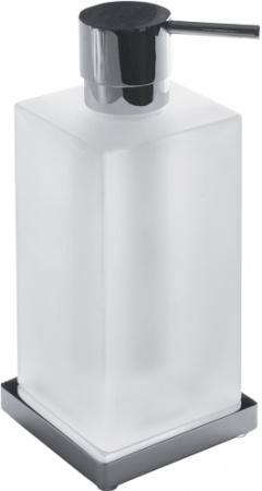 Дозатор для мыла Colombo Look B9317.000 настольный хром / стекло матовое