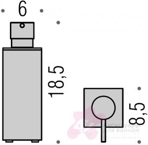 Дозатор для мыла Colombo Look B9320.000 настольный хром