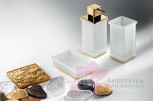 Дозатор для мыла Colombo Lulu B9322.000 настольный хром / стекло матовое