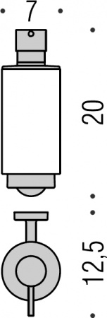 Дозатор для мыла Colombo Nordic B9323.000 подвесной хром / стекло матовое