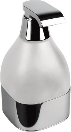 Дозатор для мыла Colombo Alize B9331 настольный хром / стекло матовое