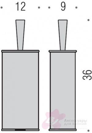 Ершик для туалета Colombo Khala B9405.000 напольный хром