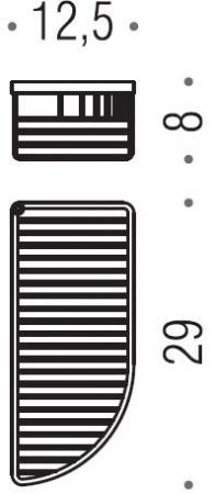 Полка решетка Colombo Angolari B9608.000 12,5 х h8 cм хром