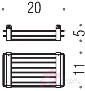Полка решетка Colombo Angolari B9631.000 20 х h5 cм хром