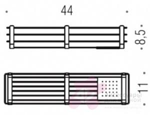 Полка Colombo Angolari B9633.000 решетка 44 х h8,5 cм хром