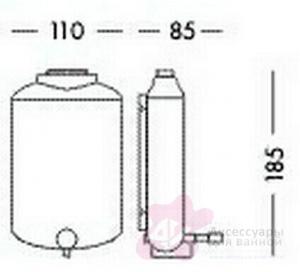 Дозатор для мыла Colombo Hotel Collection B9963 подвесной хром