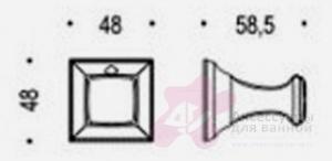 Крючок Colombo Portofino CD97 CR одинарный хром