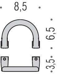 Крючок Colombo Lulu LC47.000 одинарный хром