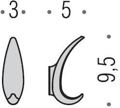 Крючок Colombo Melo RA17.000 одинарный хром