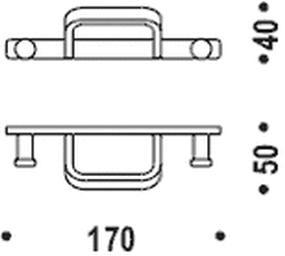 Крючок Colombo Time W4217 одинарный хром