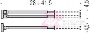 Полотенцедержатель Colombo Plus W4914 двойной раздвигающийся длина 28-41,5 см хром
