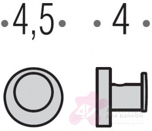Крючок Colombo Plus W4917 одинарный хром
