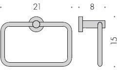 Полотенцедержатель Colombo Plus W4931 кольцо хром