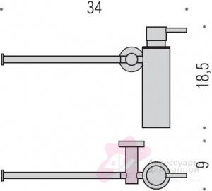 Дозатор для мыла Colombo Plus W4975 подвесной с полотенцедержателем хром