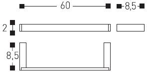 Полотенцедержатель Cosmic Bath Life 229.01.64 одинарный длина 60 см хром
