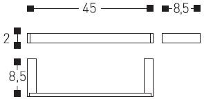 Полотенцедержатель Cosmic Bath Life 229.01.69 одинарный длина 45 см хром