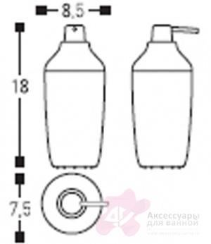 Дозатор для мыла Cosmic Drop 247.05.04 настольный хром / белый