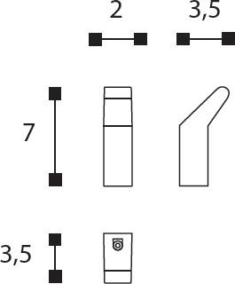 Крючок Cosmic Project  251.01.21 одинарный хром