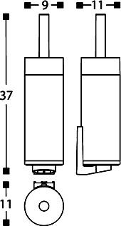 Ерш для туалета Cosmic Project 251.51.00 настенный белый / хром