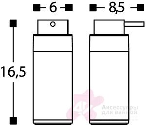 Дозатор для мыла Cosmic Project 251.51.04 настольный белый / хром