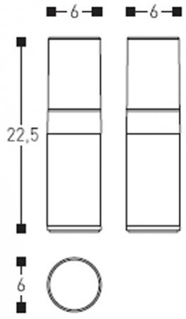Стакан Cosmic Project 251.51.51 настольный двойной белый / хром