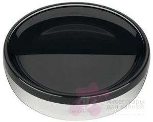 Мыльница Cosmic Organics 258.05.32 настольная черный /хром