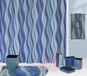 Коврик Creative Bath Wavelength R1251BLU для ванны 81 х 53 см цвет синий/голубой