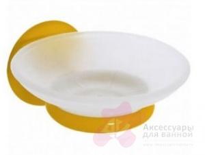 Мыльница Creavit Ducky BJ11022Y подвесная желтый/стекло