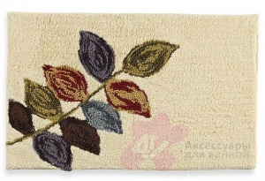 Коврик Croscill Mosaic Leaves 6A0-064O0-0086-990 для ванны 76 х 51 см цвет бежевый