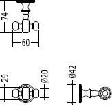 Крючок Devon&Devon First Class DD33330CR двойной хром
