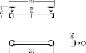 Полотенцедержатель Devon&Devon First Class DD33350CR одинарный 30 см хром