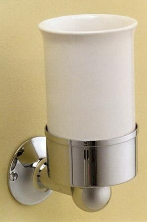 Стакан Devon&Devon New York NY103CR подвесной хром / керамика белая