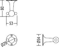 Крючок Devon&Devon New York NY113CR двойной хром